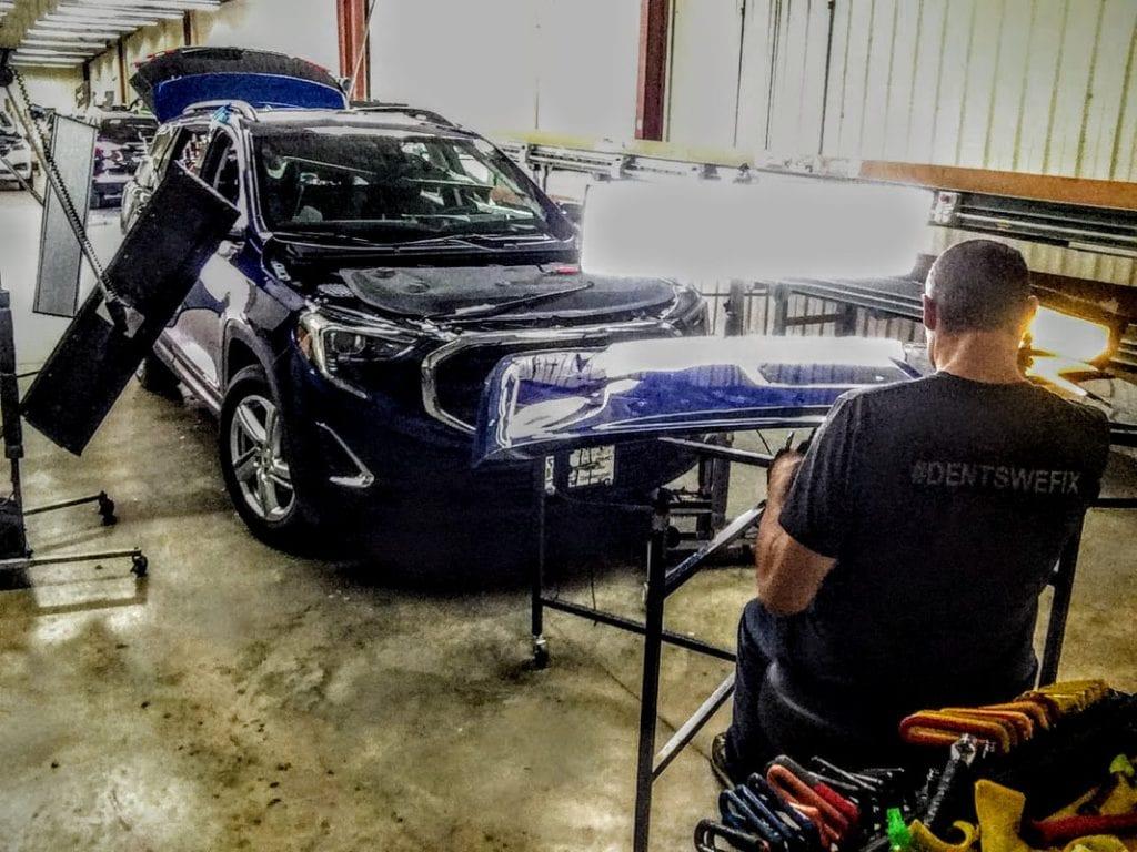 mobile dent repair luxury car